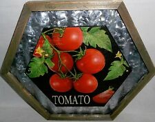 "Tomato Wall Plaque 13 1/4"" X 11 1/2' X 1"" Metal Hanger on Back"