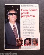 AP94 - Clipping-Ritaglio -1982- ENZO FERRARI PAROLA PER PAROLA , CASINALBO 1982