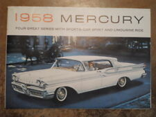 MERCURY Range 1958 ORIG vendite BROCHURE-MONTCLAIR Marauder Monterey Park Lane
