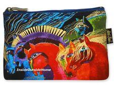 Laurel Burch Horses of Fire Organizer Bag Makeup Pencil Art Craft Sewing Meds Nw