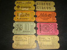 Singapore 1990's Amusement Arcade/Center Gaming Coupons, 8 pieces