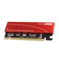 M.2 X16 PCI-E Riser Card Aluminum Sheet Full Speed Drive Adapter Red