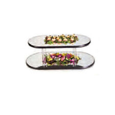 """Lakeside 2271 12"""" Diameter Mirror Tray with 9"""" Clear Acrylic Legs"""