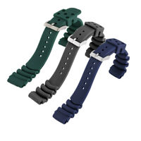 20mm/22mm Silicone Watch Band Rubber Wrist Strap Replacement Spring Bars