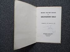 1948 Signed Salvador Dali Art Show Program Bignou Gallery in NYC 1900-1949 (JSA)