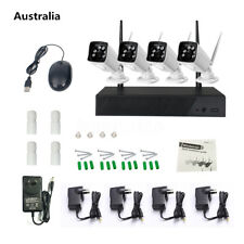 4CH 720P NVR Kit HD Outdoor IR CUT Security IP Wireless Camera WIFI CCTV System