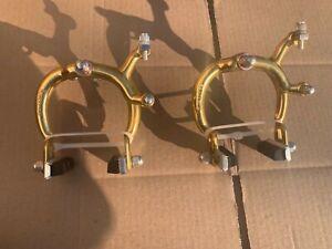 "🍀NOS GOLD OLD SCHOOL BMX 1981 DIA COMPE 1020 ""FRONT & REAR BRAKE"" MONGOOSE TEAM"