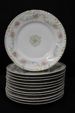 "Set of 12 Theodore Haviland Porcelaine 8 3/4"" Luncheon Plates Limoges pre-1903"