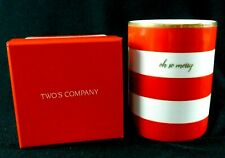 """Two's Company Holiday Glow Fraser Fir Filled Candle Oh So Merry 10.6 oz 4.5"""""""