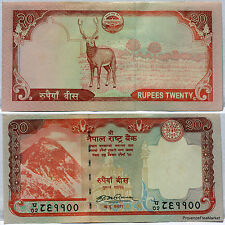 NEPAL billet neuf  de 20 Ruppees  Everest  Antilopes  2008 Pick62