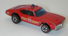 Redline Hotwheels Red Blue Light 1975 Chief's Special