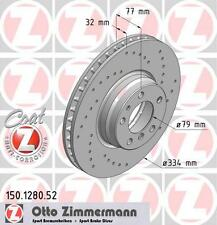 ZIMMERMANN 150.1280.52 FRONT SPORT BRAKE DISCS PAIR (COAT Z)