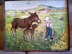 Feeding the Donkeys Muriel Dawson A.R.C.A.