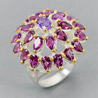 Fine Art Jewelry Natural Amethyst 925 Sterling Silver Ring Size 7/R123695