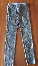 J BRAND  #9010241 Grey Golden Snakeskin Stretch Legging Skinny Leg Jeans 27