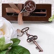 40 Vintage Skeleton key themed key chain Wedding favors Bridal Shower Favor