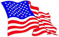 """American Flag X Large 24"""" X 15.5"""" Decal Free Shipping"""