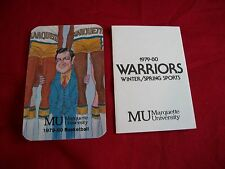 Lot of 2 1979-80 Marquette University Basketball & Winter/Spring Sport Schedules