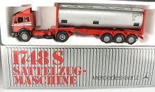 NZG 317 /2 - Mercedes-Benz MB 1748 S Tankcontainer Sattelzug - 1:43 Model Truck