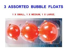 3 MIXED RED BUBBLE FLOATS,SMALL,MEDIUM,LARGE,FOR GAME FLY ROD REEL LINE FISHING