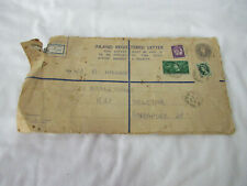 FREE POST Collectable Vintage Inland Registered Letter 1958 Singapore RAF Henlow
