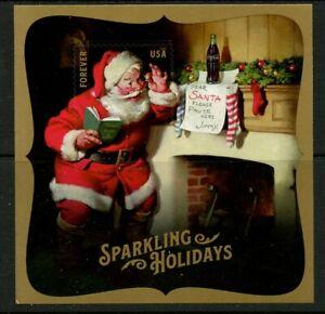 Santa Claus Coca-Cola mnh Souvenir Sheet forever stamp  2018 USA postage #5336