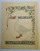 "1983 Gervaise Hand Signed 21"" x 17"" Goose with Morning Glory Lithograph #154/750"