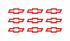 9 Chevy Bowtie Small Vinyl Decals Phone Dashboard Mirror Chevrolet Stickers