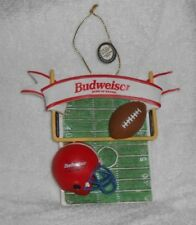 Budweiser King of Beers Football Christmas Holiday Ornament Excellent