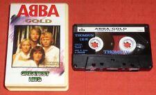 ABBA - RARE THOMSUN ORIGINAL CASSETTE TAPE - GOLD - (GREATEST HITS/BEST OF)