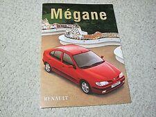 1997 RENAULT MEGANE (FRANCE) SALES BROCHURE.....