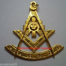Past Master Golden Tone Jewel For Masonic Collar Regalia Freemasons Pendent