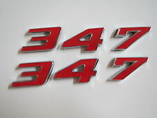 FORD 347 STROKER MUSTANG ENGINE ID FENDER HOOD SCOOP QUARTER TRUNK EMBLEMS RED