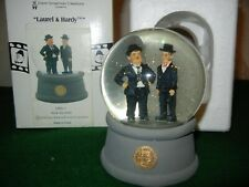 Laurel & Hardy Black Suit Water Globe Retired Sold Out 1999 * Rare *