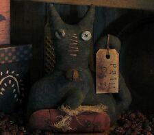 PATTERN Primitive Extreme Stumpy Halloween Black Cat Doll & Pumpkin Ornie TBP