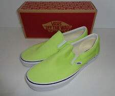 VANS Ladies Classic Slip On Womens Trainers Shoes Green New RRP £55 UK Size 4