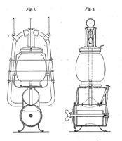 """Alte Petroleumlampe, Sturmlampe... Nier & Ehmer (""""FEUERHAND"""")... - Infos ab 1906"""