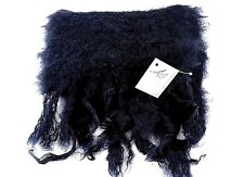ADELE'S CLASSIC FLUFFY BLACK MOHAIR WOOL WOMENS SCARF