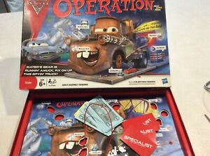 DISNEY PIXAR CARS 2 OPERATION BOARD GAME NOT COMPLETE