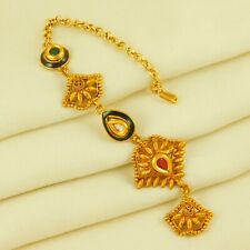 Traditional Bridal Gold Plated Maang Tikka Forhead Women Wedding Fashion Jewelry