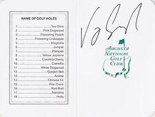 VIJAY SINGH Signed Autographed Masters Scorecard, Augusta National, PGA, HOF