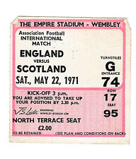 1971 SOCCER- England vs.Scotland - Original Wembley Ticket, Program & Song Sheet