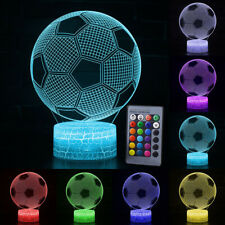 3D Rugby Football LED Night Light Desk Table Lamp Xmas Gifts Battery Powered UK
