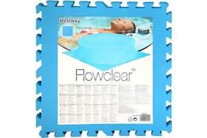 Planschbecken Unterlage BESTWAY 9er Pack Matten 50 x 50 cm blau Pool Bodenschutz