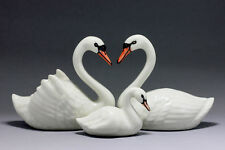 Swans set Miniature Ceramic Animals Figurine,Collectibles,terrarium