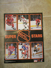 NHL SUPER STARS STARLINE POSTER - 1989 HOCKEY PLAYERS