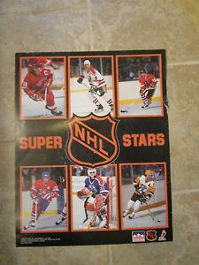 NHL SUPER STARS STARLINE POSTER - 1989 HOCKEY PLAYERS