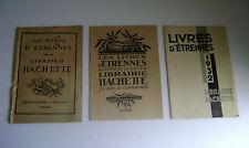 Catalogues de LIVRES D'ETRENNES Librairie Hachette 1923, 1925, 1932
