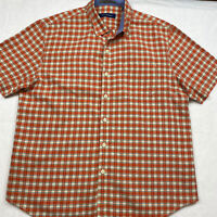 Tommy Bahama Men's Size XL Button Down Short Sleeve Shirt Tencel Cotton Plaid