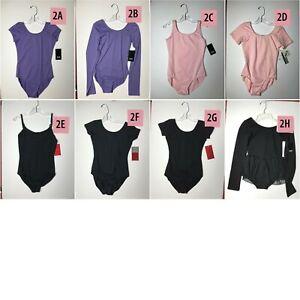 Girls Leotard Bloch Capezio Motionwear 14 X-Large Lavender Pink Black
